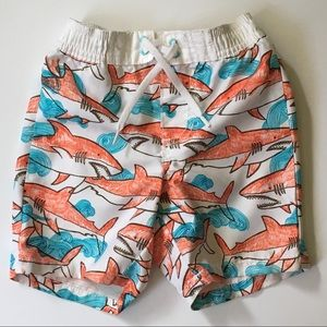 Shark bathing suit size 12-18 M Old Navy Trunks